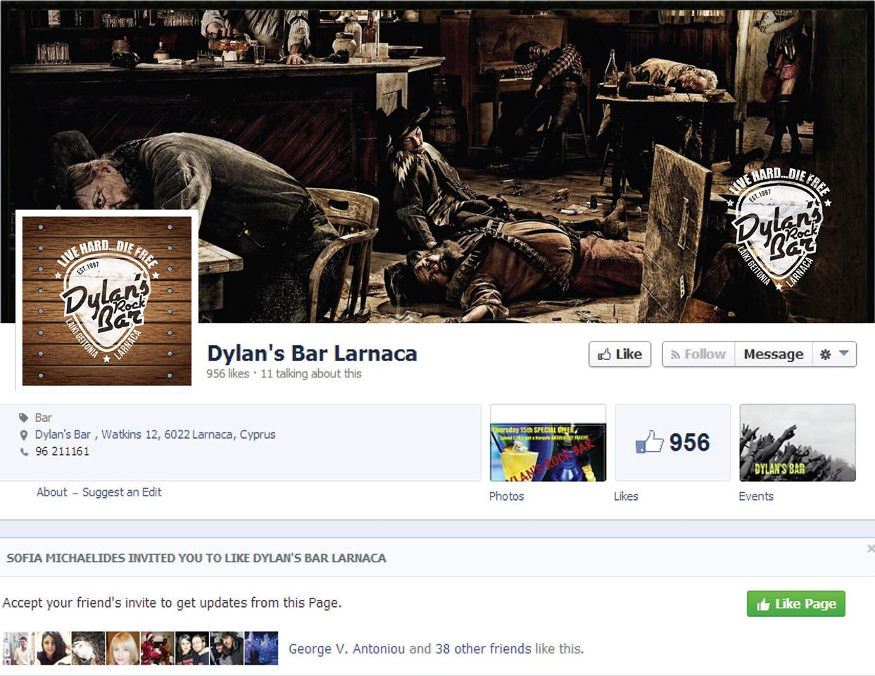 Dylan's Bar Larnaca Cover Image on XploreCyprus