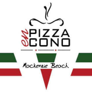 Pizza en Cono - Mackenzie Beach Logo Image on XploreCyprus