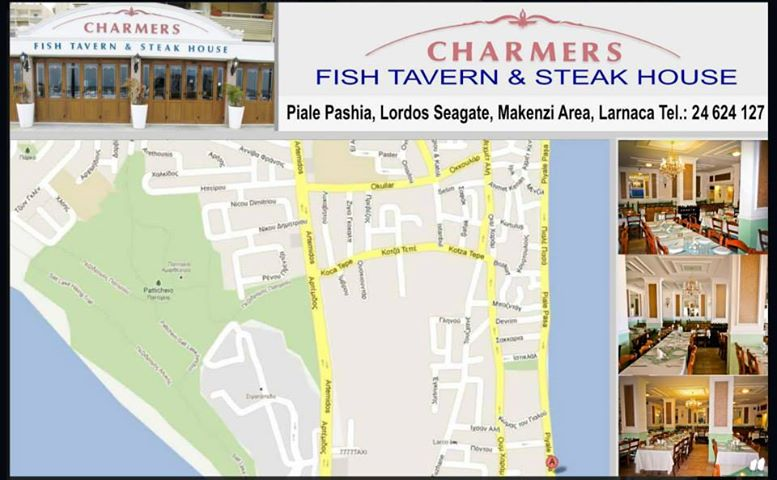 Charmers restaurant Cover Image on XploreCyprus