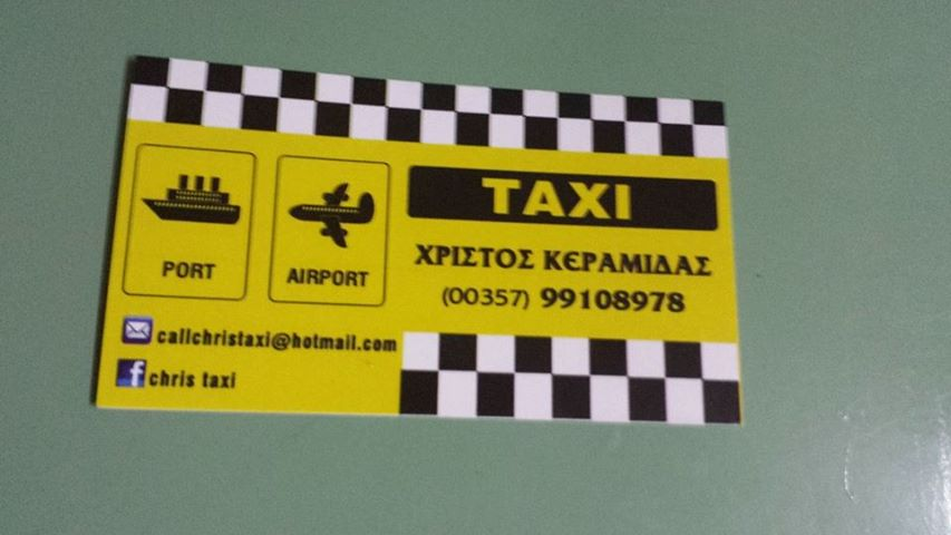 Chris taxi Cover Image on XploreCyprus