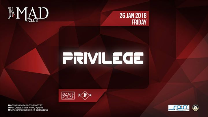 Privilege | Friday 26th of January  Mad Club Image