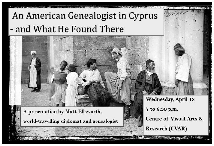Lecture: An American Genealogist in Cyprus Event Image