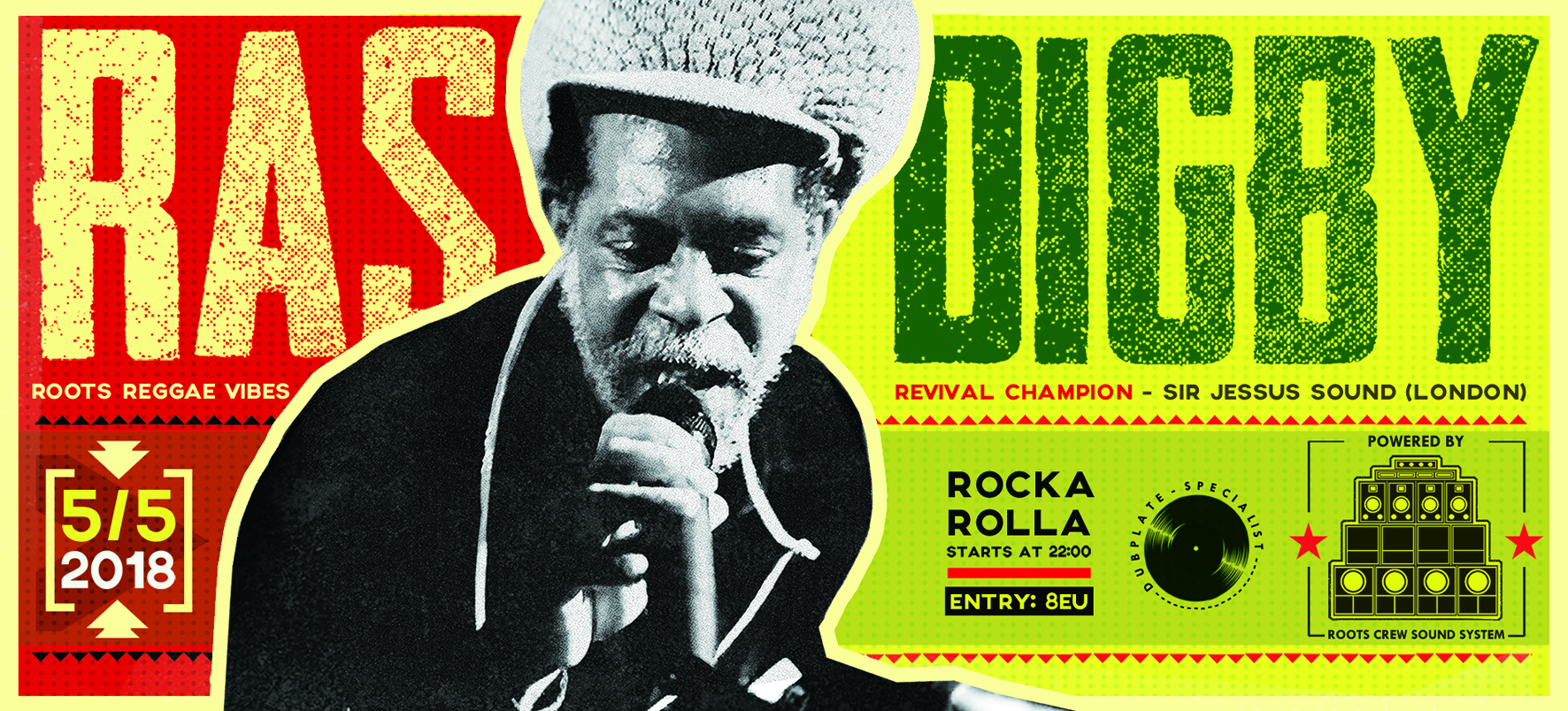 Ras Digby(UK) on Roots Crew Sound in Nicosia Event Image