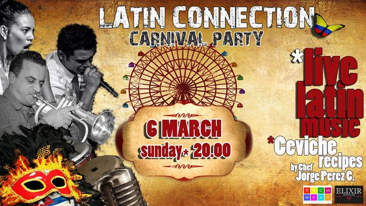 Latin Connection Live Band  Sunday 6th at 20.00 Event Image