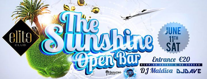 THE SUNSHINE SUMMER EDITION | OPEN BAR | HASHTAG GROUP & BLUE TEAM Event Image