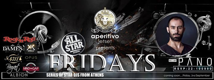 All Stars Athens Friday night Rock & Roll 2nd September only at aperitivo jetset lounge Event Image