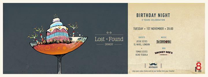 Lost + Found Drinkery's Birthday party  3 years Celebration Event Image