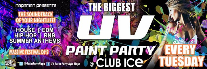 UV Paint Party : Club Ice Evnt5 Event Image